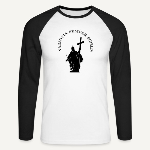varsoviasf - Koszulka męska bejsbolowa z długim rękawem