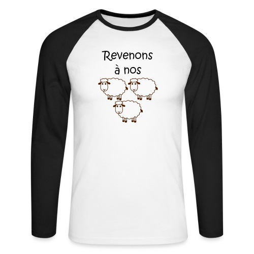 revenons-a-nos utons - T-shirt baseball manches longues Homme