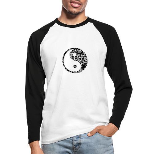 YinYang Cats - Männer Baseballshirt langarm