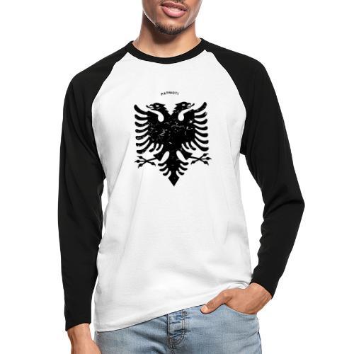 Albanischer Adler im Vintage Look - Patrioti - Männer Baseballshirt langarm