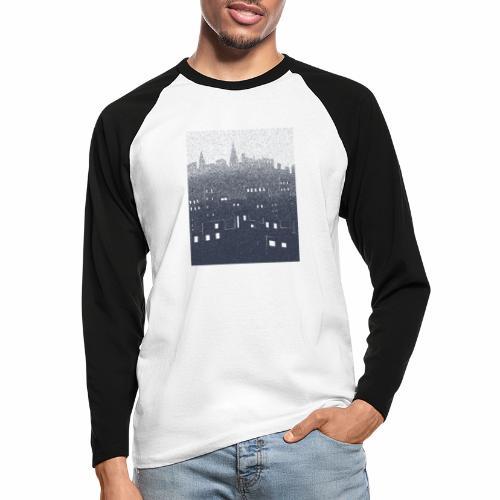 citysnow rectangle - T-shirt baseball manches longues Homme