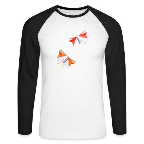 Butterflies Origami - Butterflies - Mariposas - Men's Long Sleeve Baseball T-Shirt