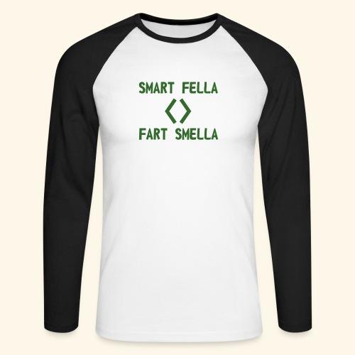 Smart fella - Maglia da baseball a manica lunga da uomo