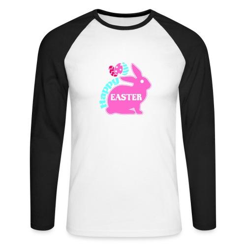 Happy Easter - Frohe Ostern - Männer Baseballshirt langarm