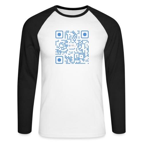 QR Maidsafe.net - Men's Long Sleeve Baseball T-Shirt