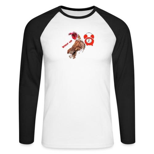 Wake up, the cock crows - Men's Long Sleeve Baseball T-Shirt