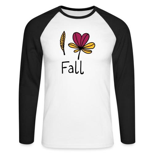 Fall in love - Männer Baseballshirt langarm