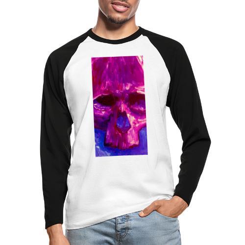 Purple Skull - Mannen baseballshirt lange mouw