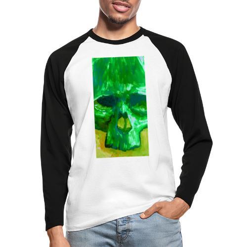 Green Skull - Mannen baseballshirt lange mouw