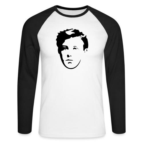Arthur Rimbaud visage - T-shirt baseball manches longues Homme