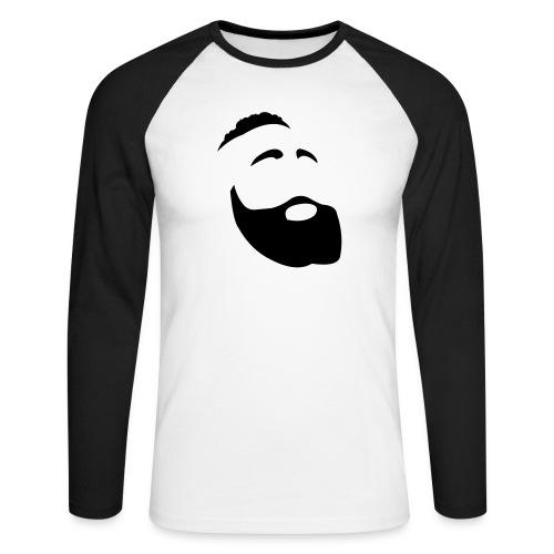 Il Barba, the Beard black - Maglia da baseball a manica lunga da uomo