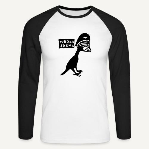 wronaskona - Koszulka męska bejsbolowa z długim rękawem