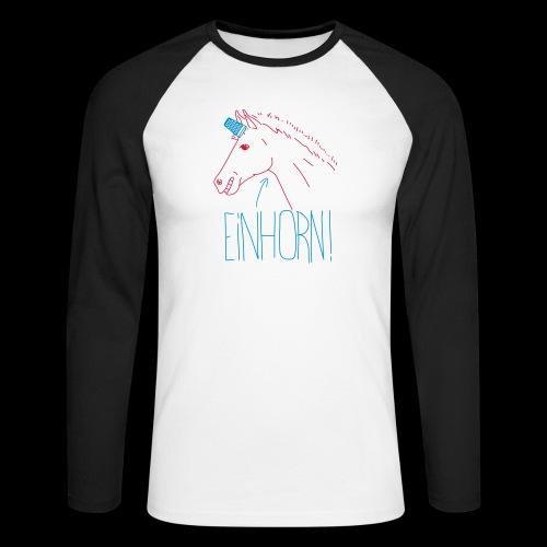 Einhorn - Männer Baseballshirt langarm