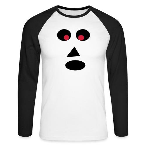 Ansigt - Langærmet herre-baseballshirt