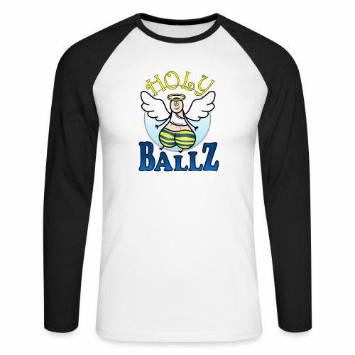 Holy Ballz Charlie - Men's Long Sleeve Baseball T-Shirt