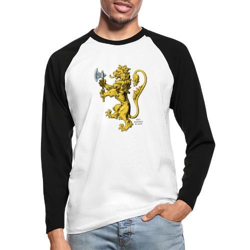Den norske løve i gammel versjon - Langermet baseball-skjorte for menn