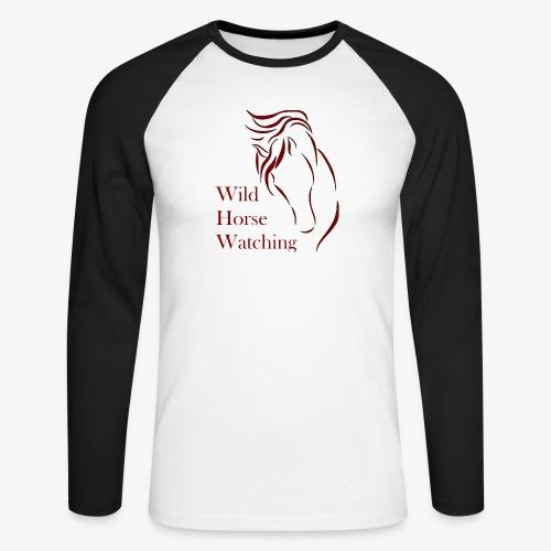 Logo Aveto Wild Horses - Maglia da baseball a manica lunga da uomo