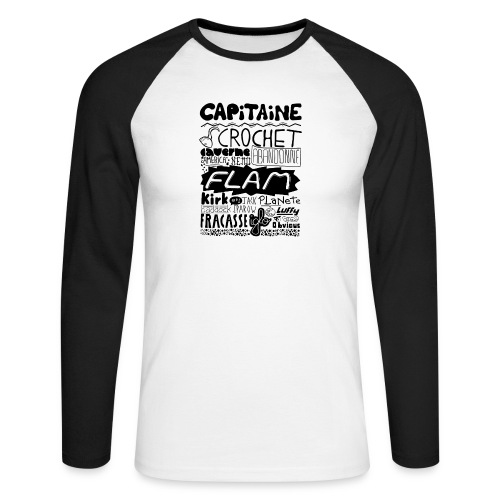 capitaine - T-shirt baseball manches longues Homme