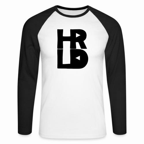 HRLD Black Logo - Miesten pitkähihainen baseballpaita