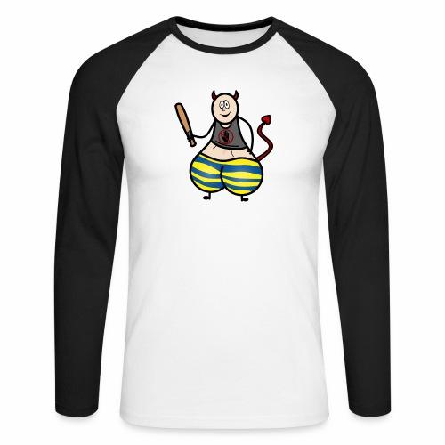 Devil No Touchies Charlie - Men's Long Sleeve Baseball T-Shirt