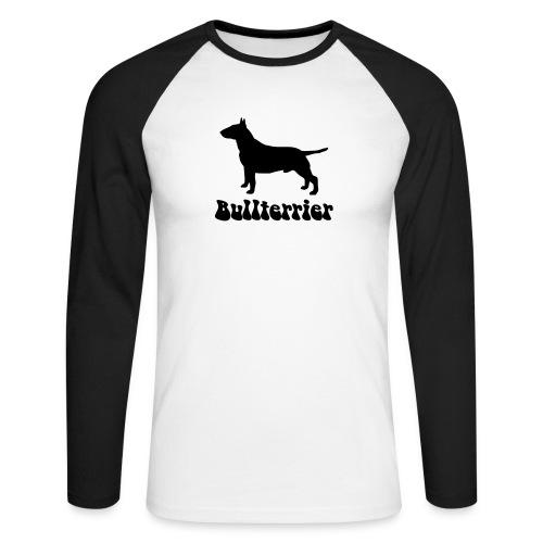 Bullterrier Logo - Männer Baseballshirt langarm