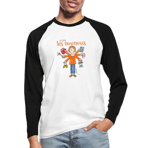 013 vive les nounous - T-shirt baseball manches longues Homme
