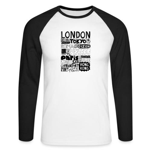 Villes du monde - T-shirt baseball manches longues Homme