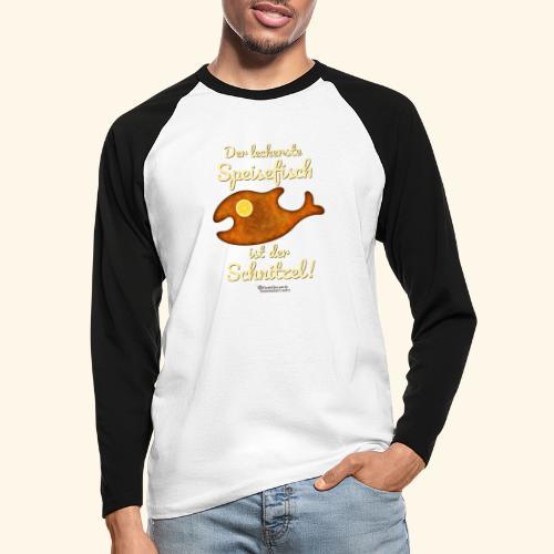 Geek Design Spruch Der leckerste Speisefisch - Männer Baseballshirt langarm