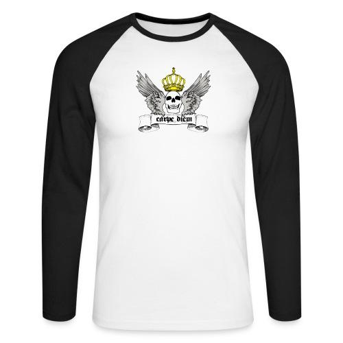 CARPE DIEM - Langærmet herre-baseballshirt