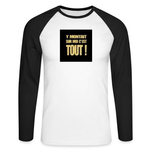 badgemontaitsurmoi - T-shirt baseball manches longues Homme