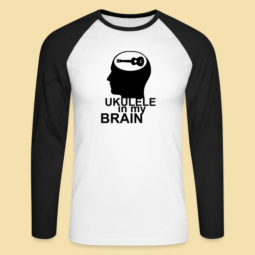 Ukulele in my brain - Männer Baseballshirt langarm