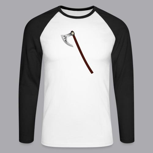 Wikinger Beil - Männer Baseballshirt langarm