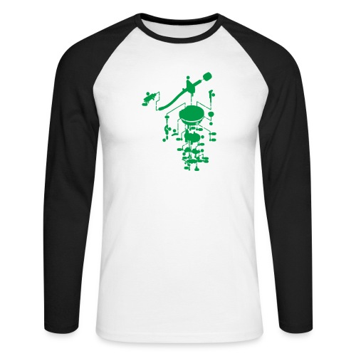 tonearm05 - Mannen baseballshirt lange mouw