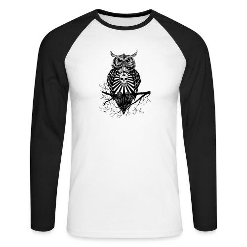 Hibou Psychédélique - T-shirt baseball manches longues Homme