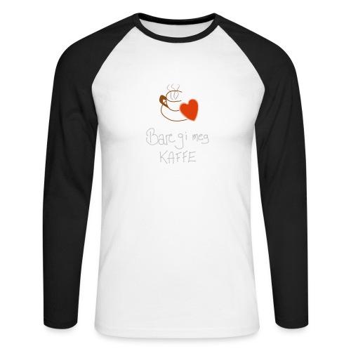 Kaffe - Langermet baseball-skjorte for menn