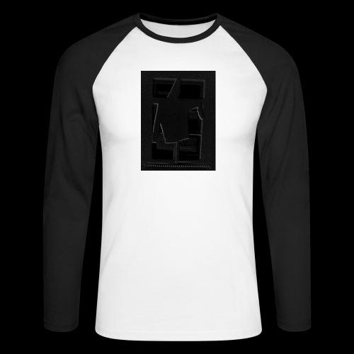 Dark Negative - Men's Long Sleeve Baseball T-Shirt