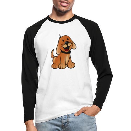 cartoon dog - Maglia da baseball a manica lunga da uomo