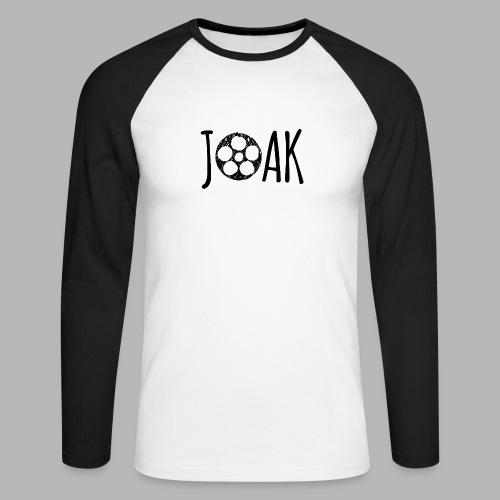 Logo_Joak_zwart - Men's Long Sleeve Baseball T-Shirt