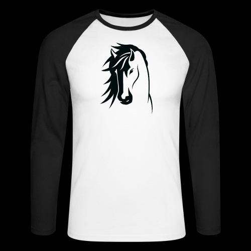 Stallion - Men's Long Sleeve Baseball T-Shirt