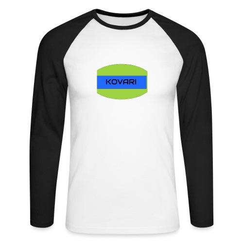 Kovari Logo - Miesten pitkähihainen baseballpaita