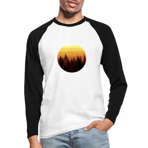 sunset - T-shirt baseball manches longues Homme