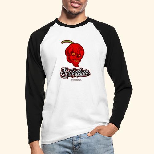 Chili Chilischote Chilihead Scovillain - Männer Baseballshirt langarm