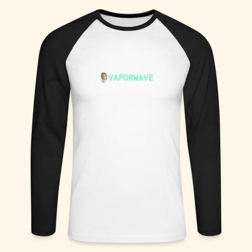 Roman Statue Vaporwave - T-shirt baseball manches longues Homme