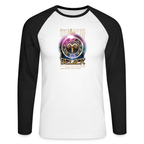 BELIER - T-shirt baseball manches longues Homme