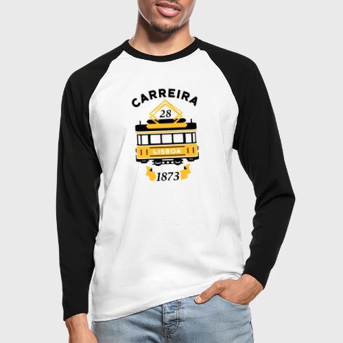 Tramway 28 Lisbonne Portugal - T-shirt baseball manches longues Homme