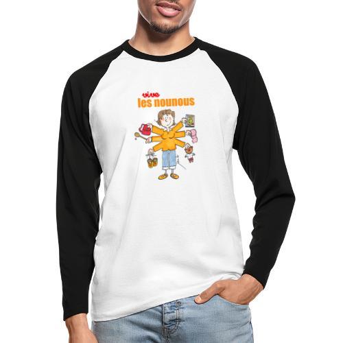 Danger ecole vive les nounous [mp] - T-shirt baseball manches longues Homme