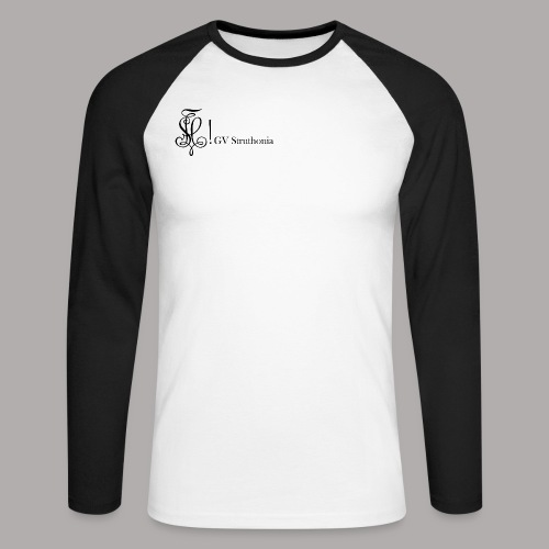 Zirkel mit Name, schwarz (vorne) - Männer Baseballshirt langarm