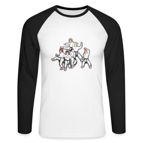Karate - Men's Long Sleeve Baseball T-Shirt