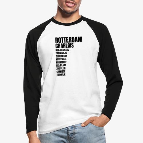 CHARLOIS - Mannen baseballshirt lange mouw
