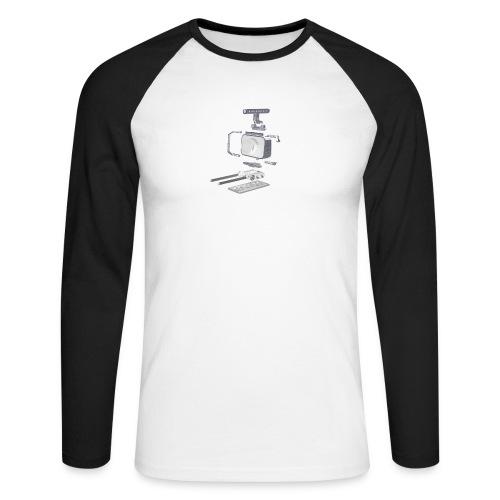 VivoDigitale t-shirt - Blackmagic - Maglia da baseball a manica lunga da uomo